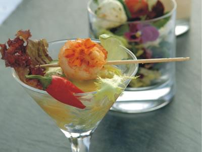 Salat im Glas